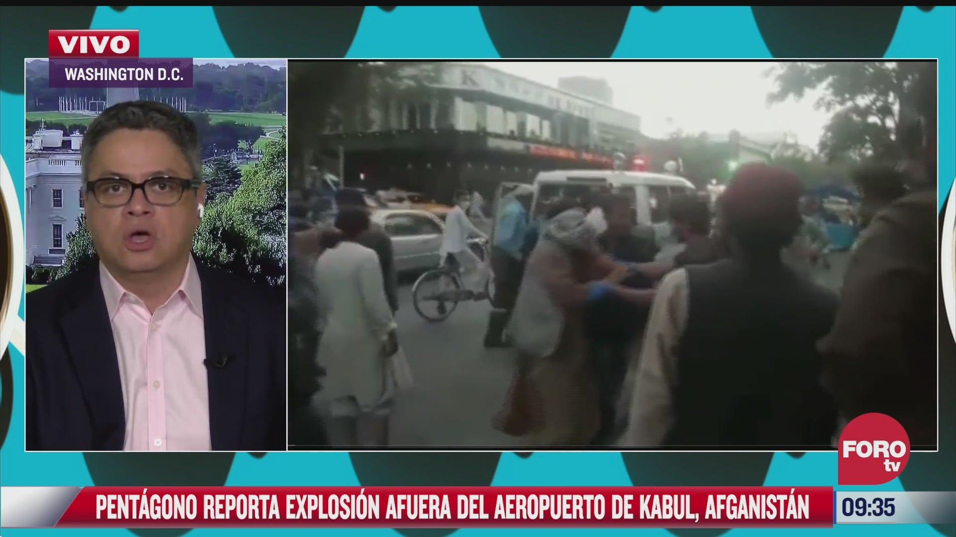 explosion cerca del aeropuerto de kabul podria ser un ataque suicida