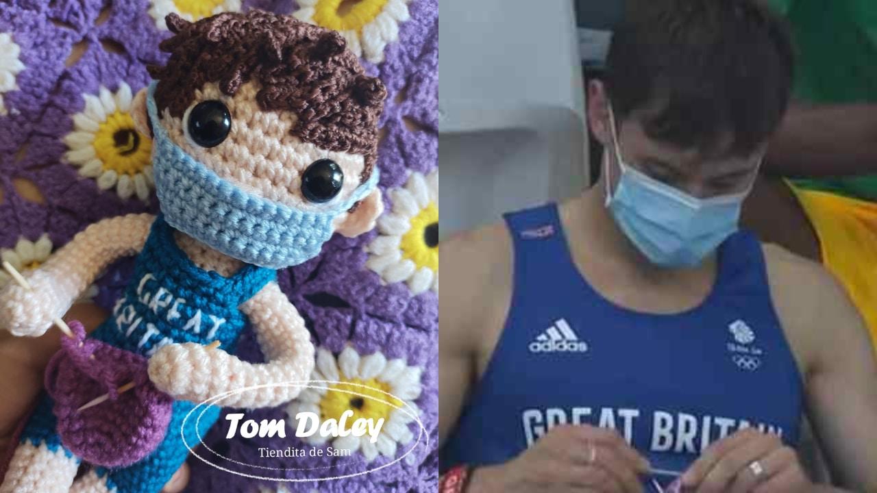 Joven mexicana crea muñeco tejido de Tom Daley