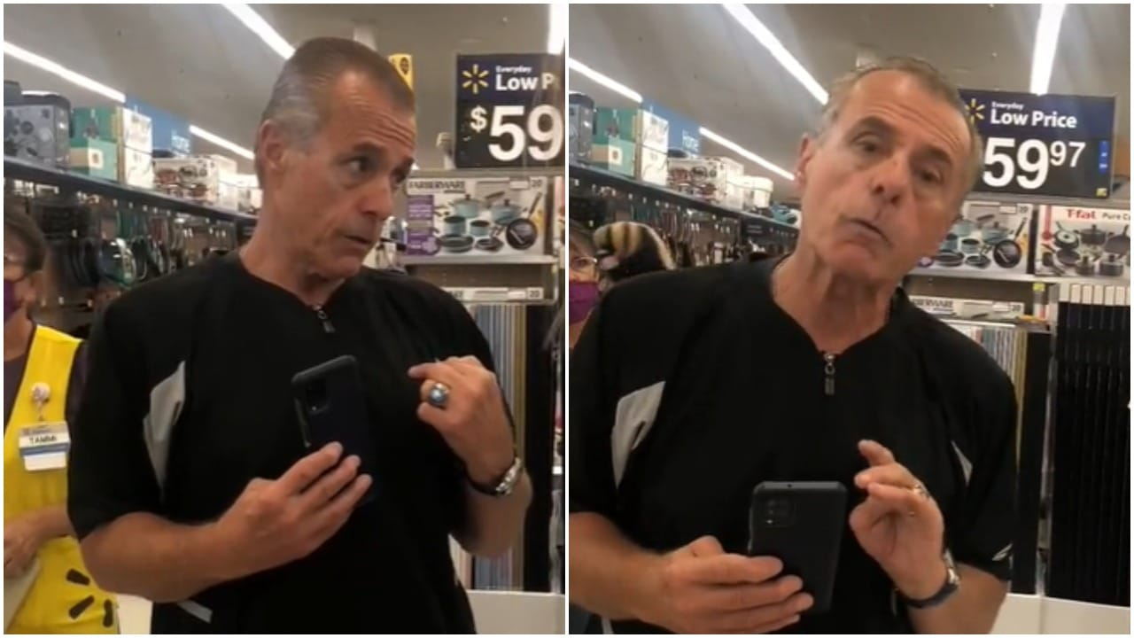 Hombre le grita aprende inglés a empleada de Walmart en Estados Unidos