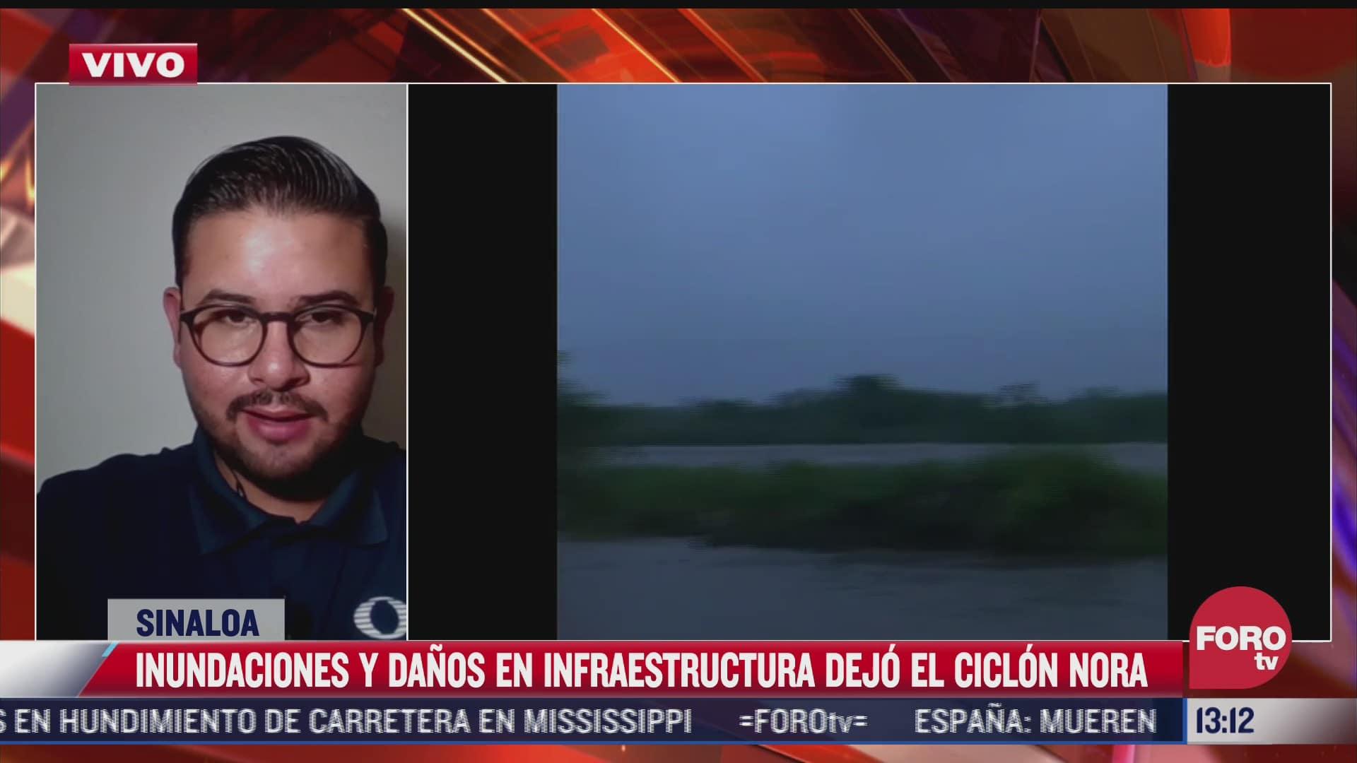 huracan nora deja danos e inundaciones en sinaloa