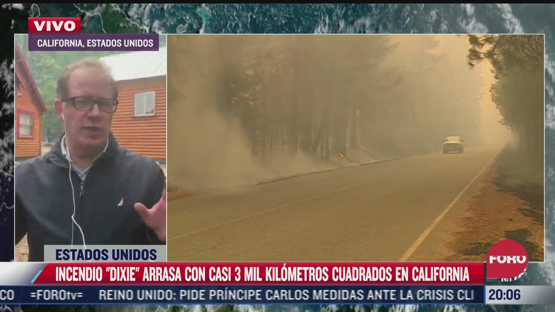 incendio dixie arrasa con casi 3 mil kilometros cuadrados en california