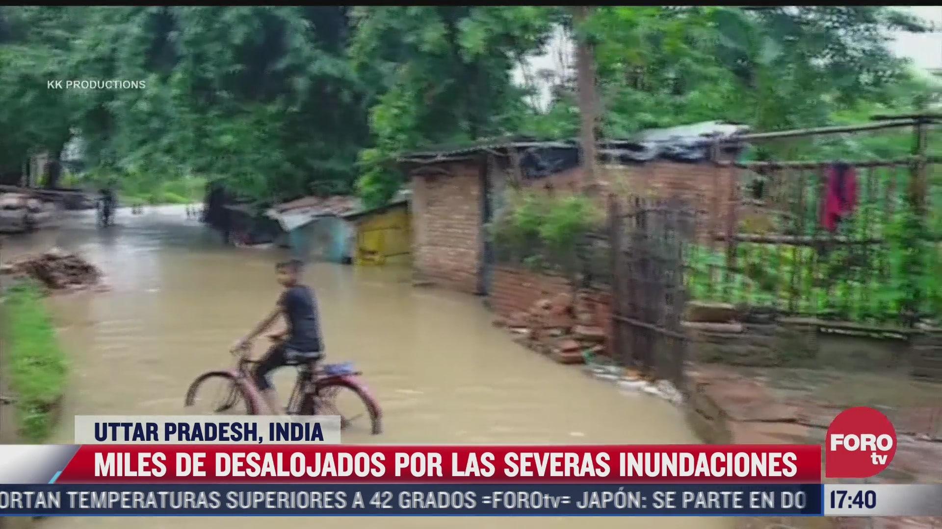 inundaciones en india arrasan con las aldeas del pais