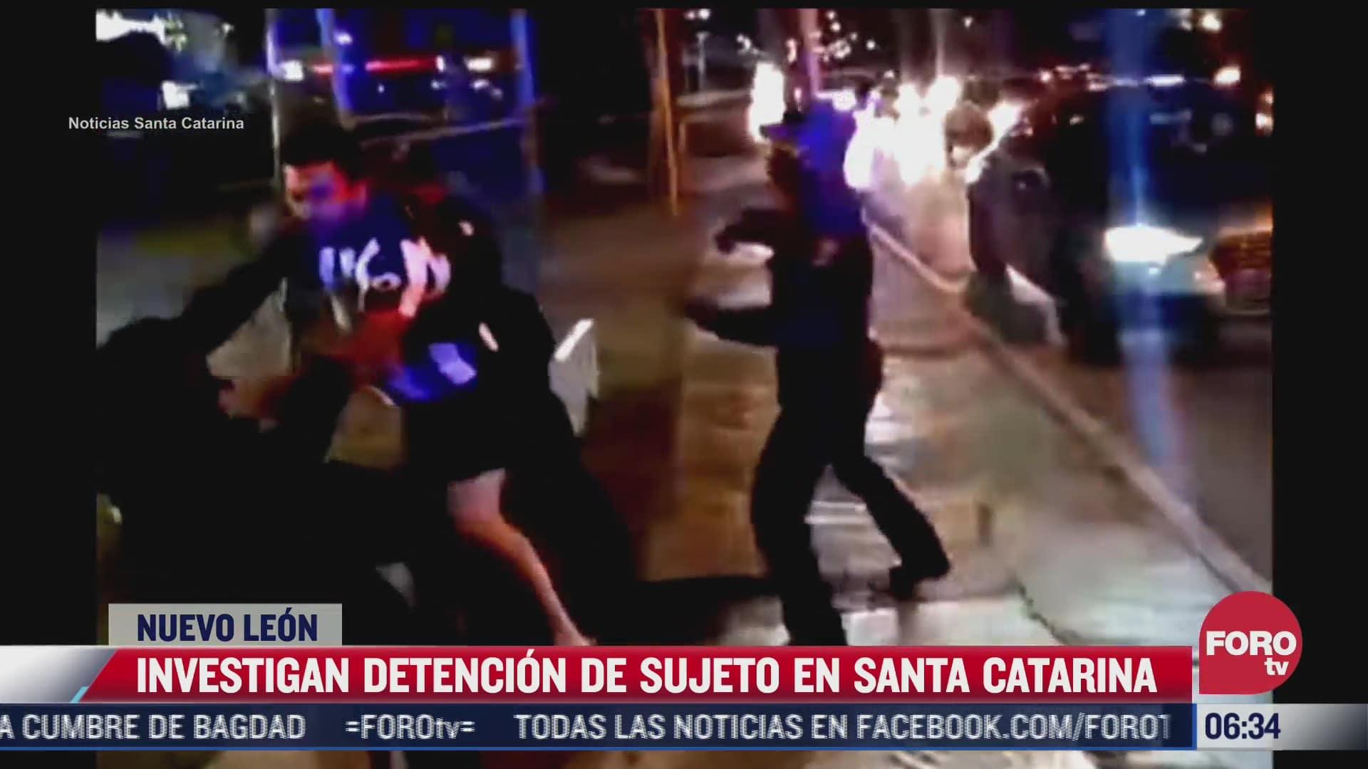 investigan a policias por detencion en santa catarina nuevo leon