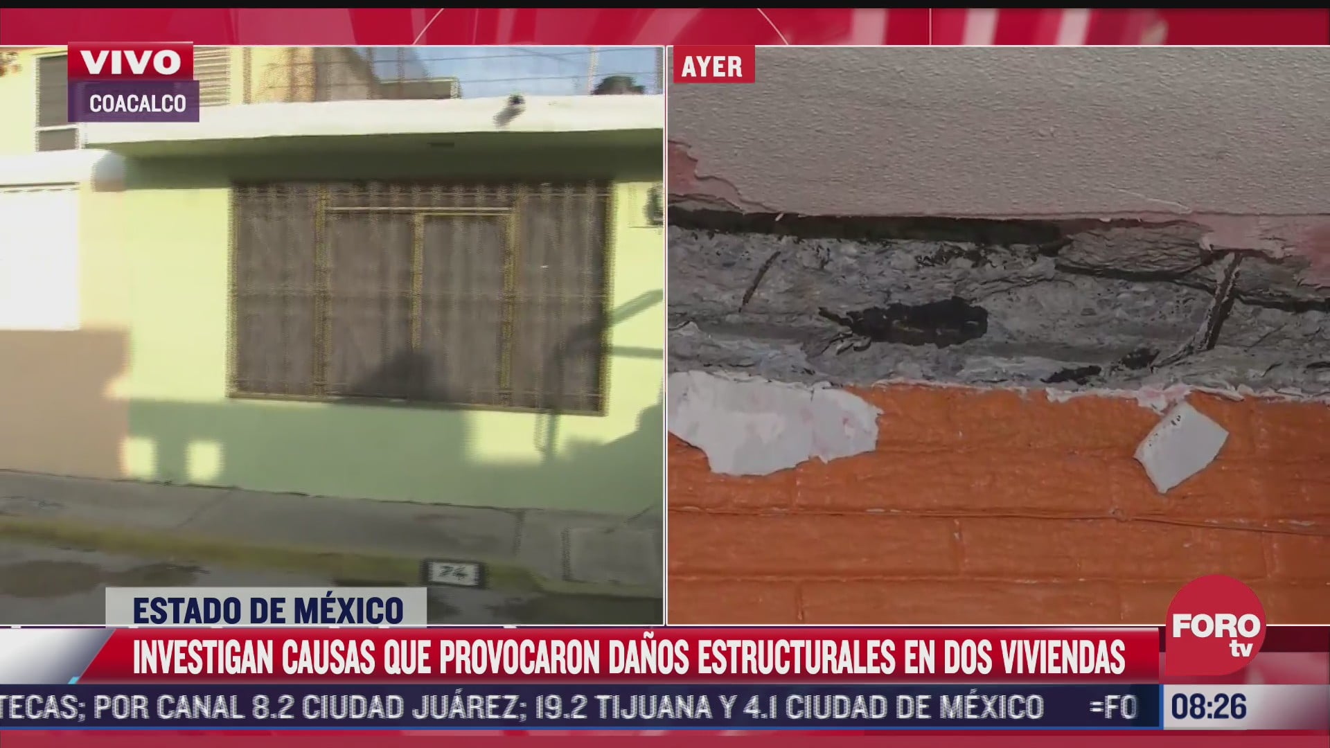 investigan causas que provocaron danos estructurales a viviendas en coacalco edomex