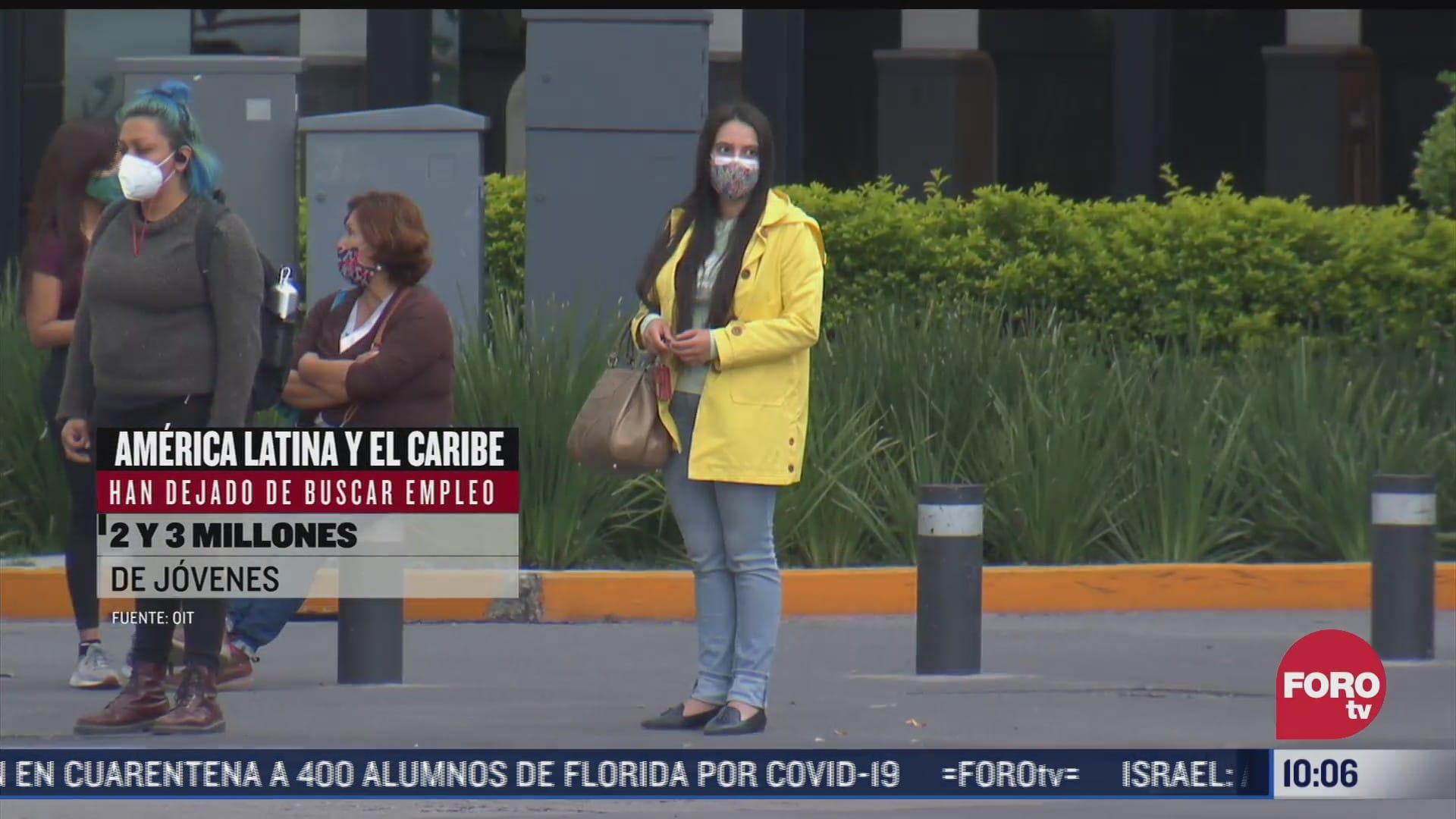 jovenes pierden empleo tras pandemia por covid