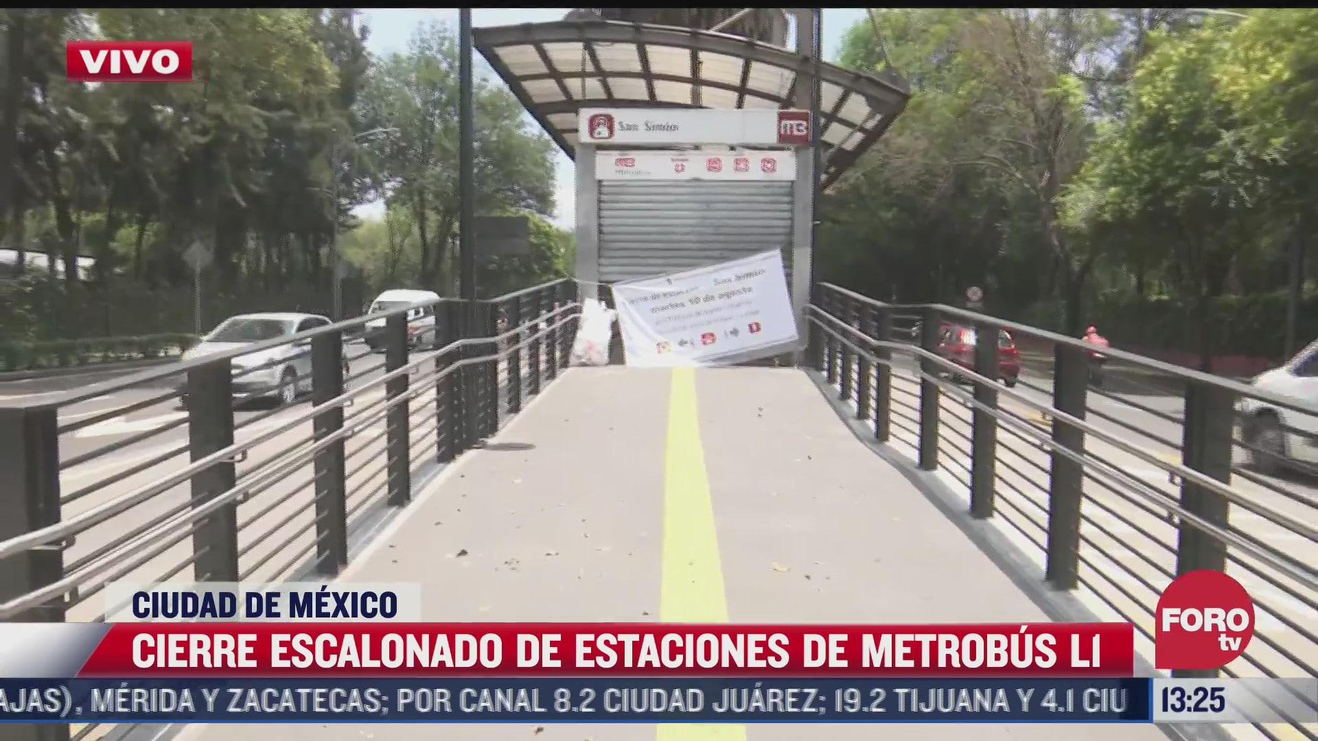 linea 1 del metrobus en cdmx cerrara varias estaciones por obras de mantenimiento