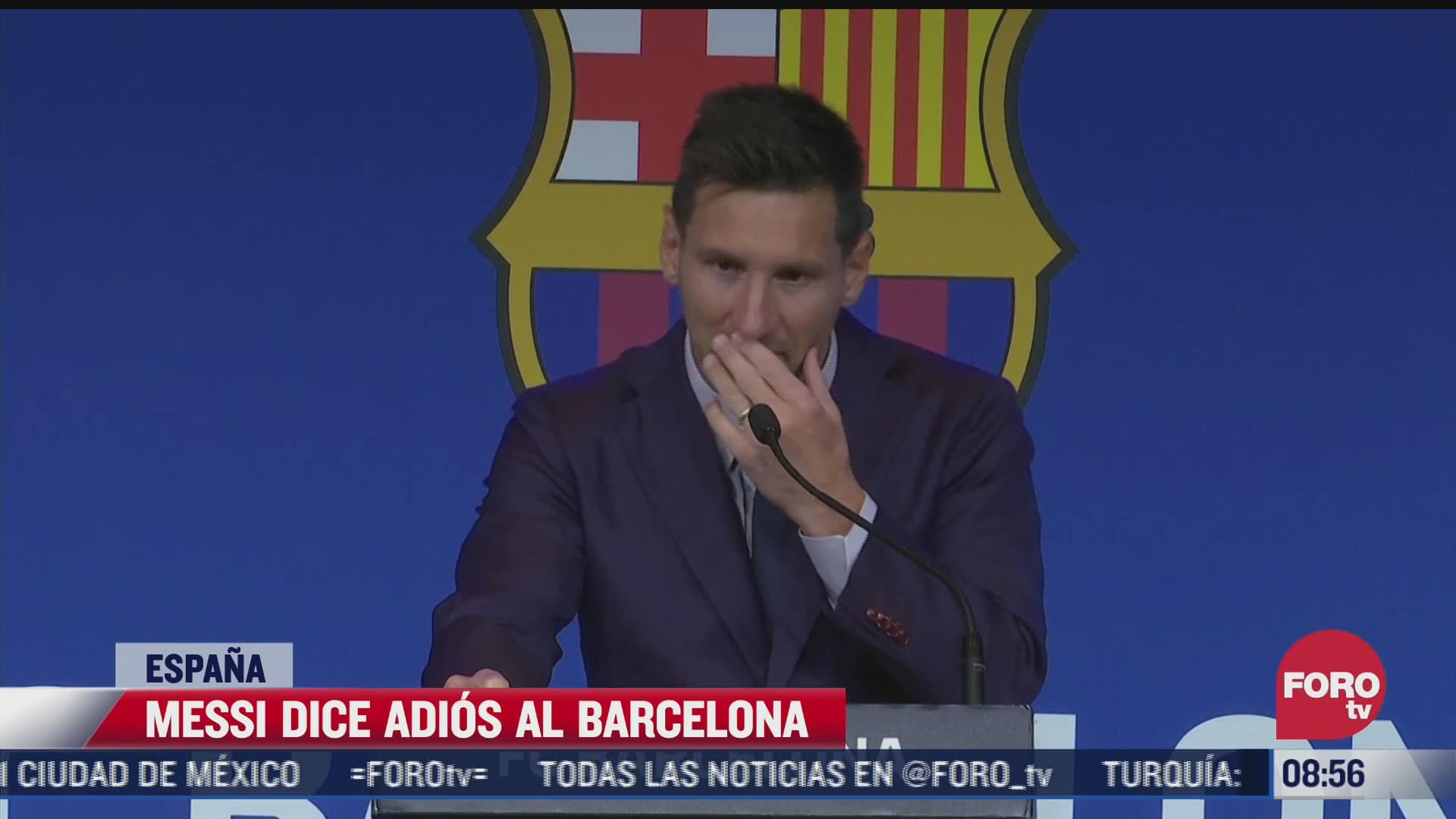 llorando lionel messi dice adios al barcelona