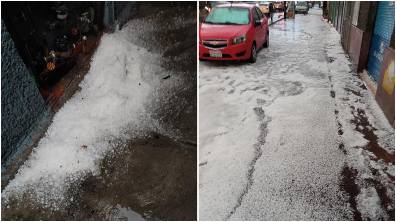 Lluvia y fuerte granizo sorprende a la CDMX y usuarios reportan con fotos y videos en redes sociales