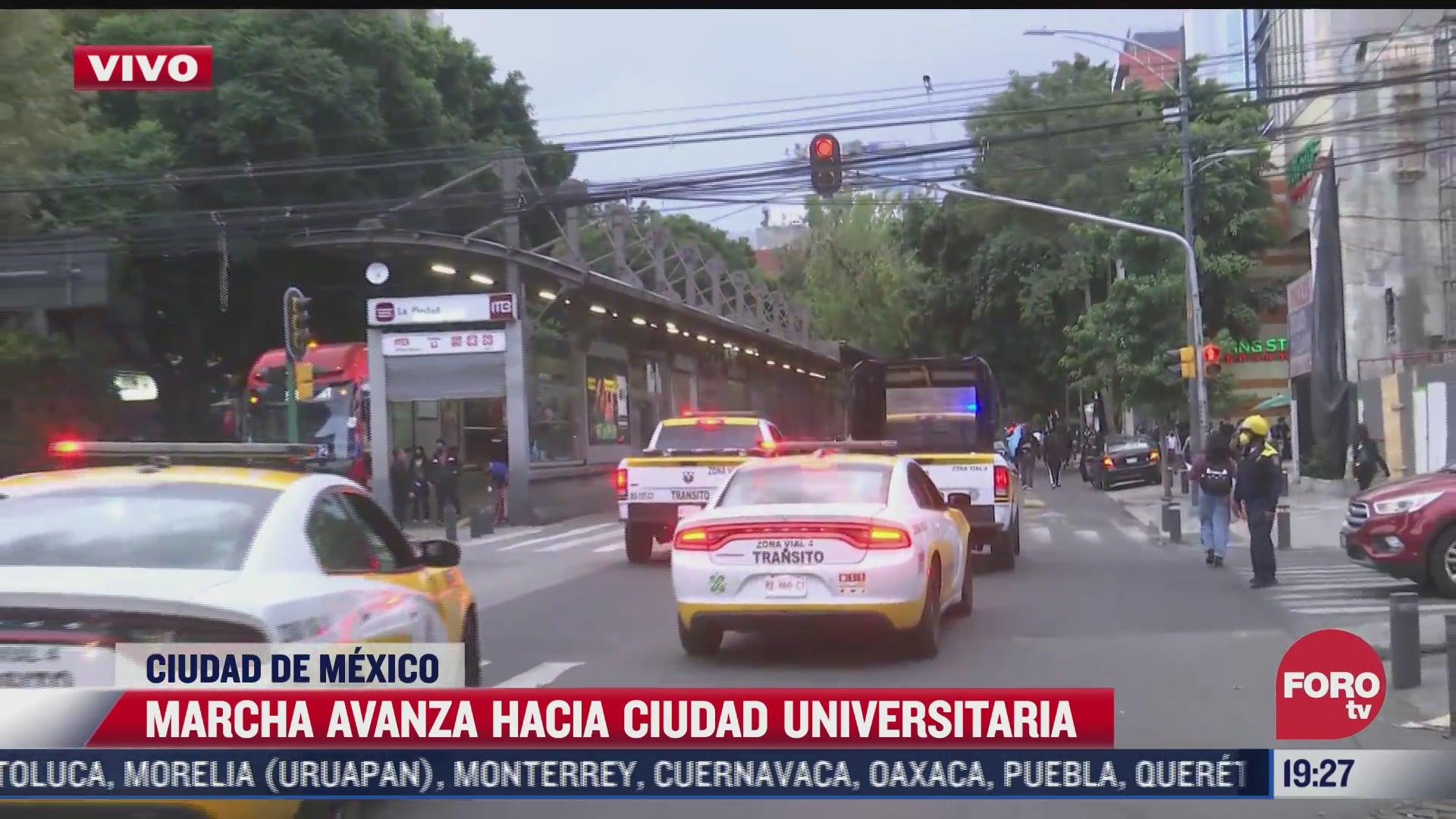 marcha avanza hacia ciudad universitaria