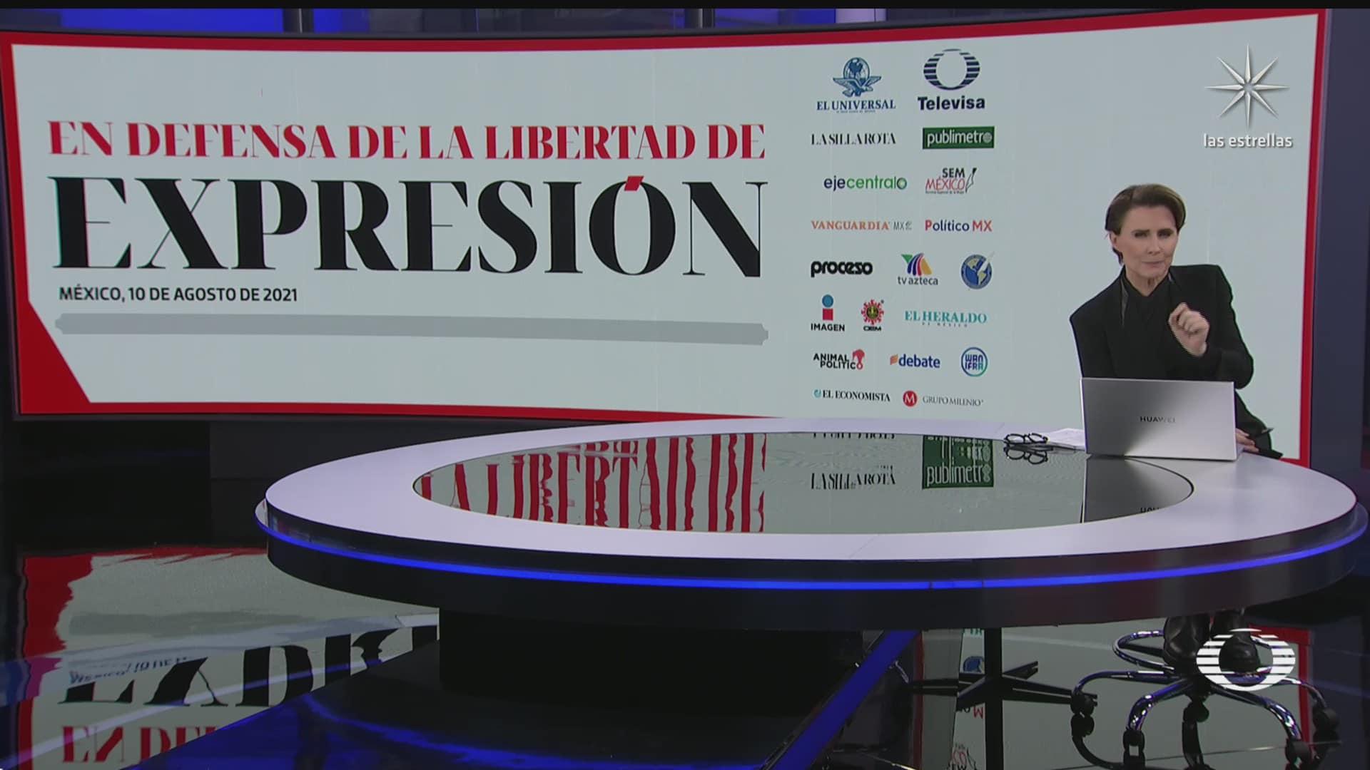 medios de comunicacion rechazan amenazas de grupos criminales por coberturas periodisticas