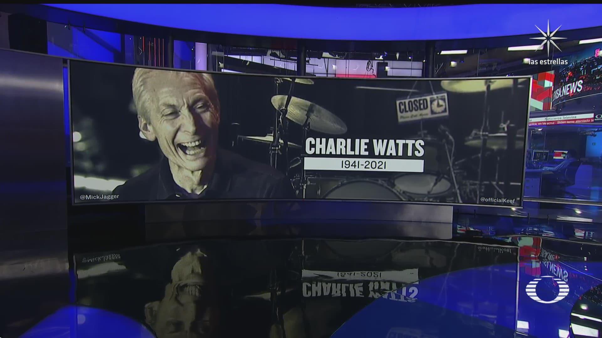 muere charlie watts baterista de the rolling stones