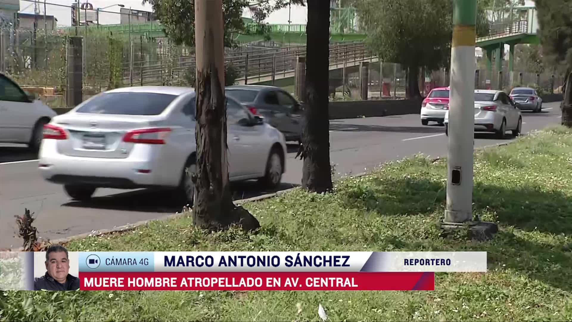 muere hombre atropellado en avenida central
