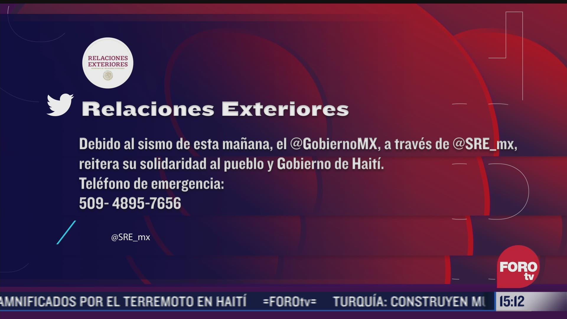 no hay reporte de mexicanos afectados por terremoto en haiti