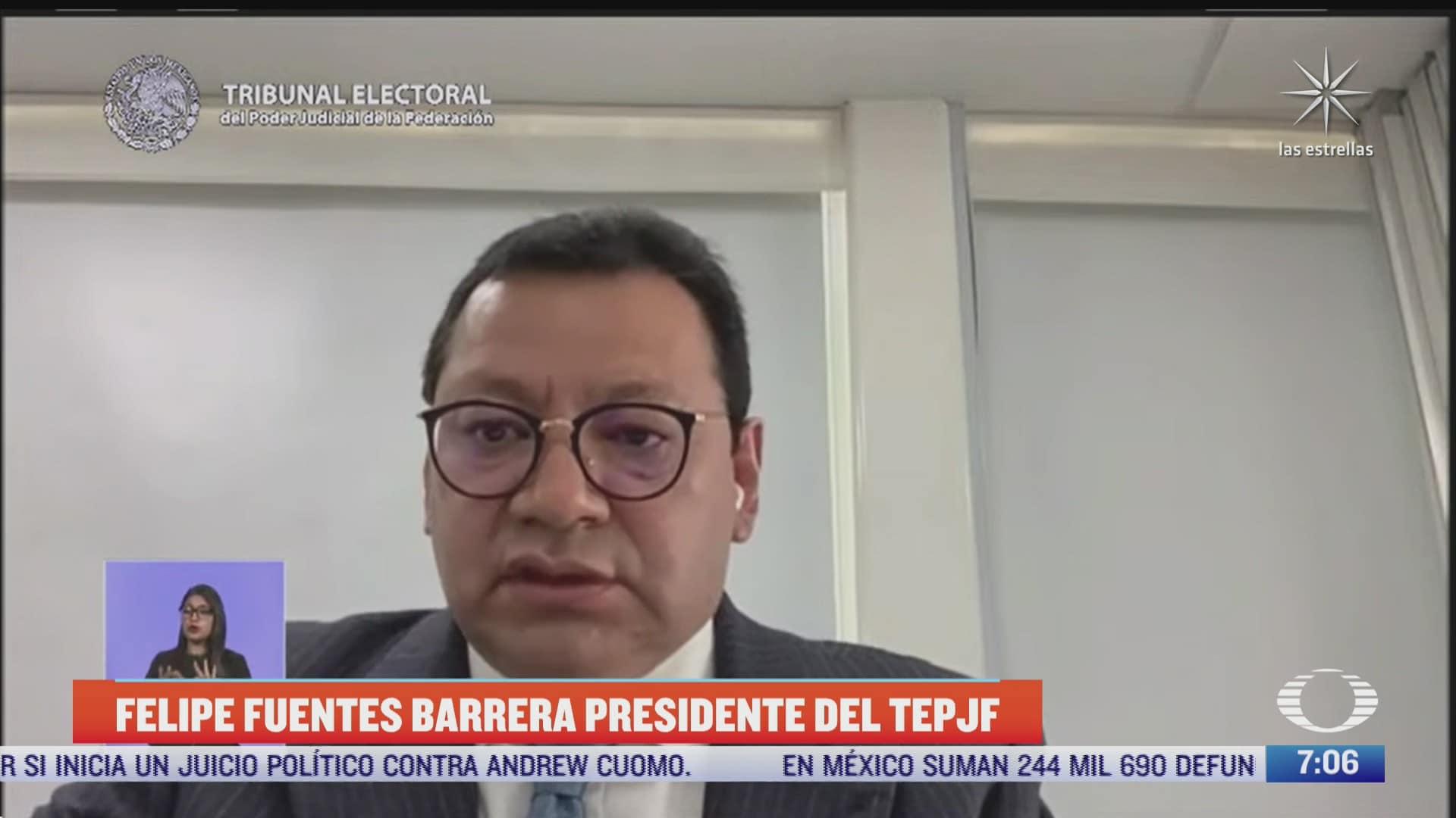 nombran a felipe alfredo fuentes barrera presidente del tepjf