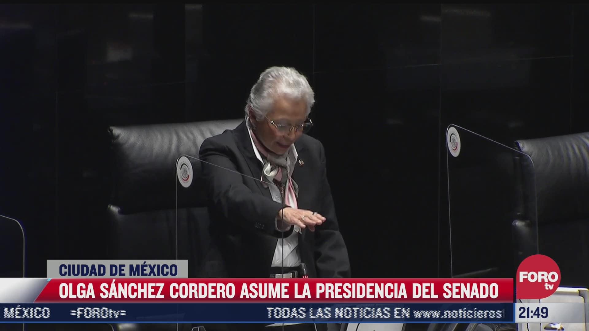 olga sanchez cordero asume la presidencia del senado