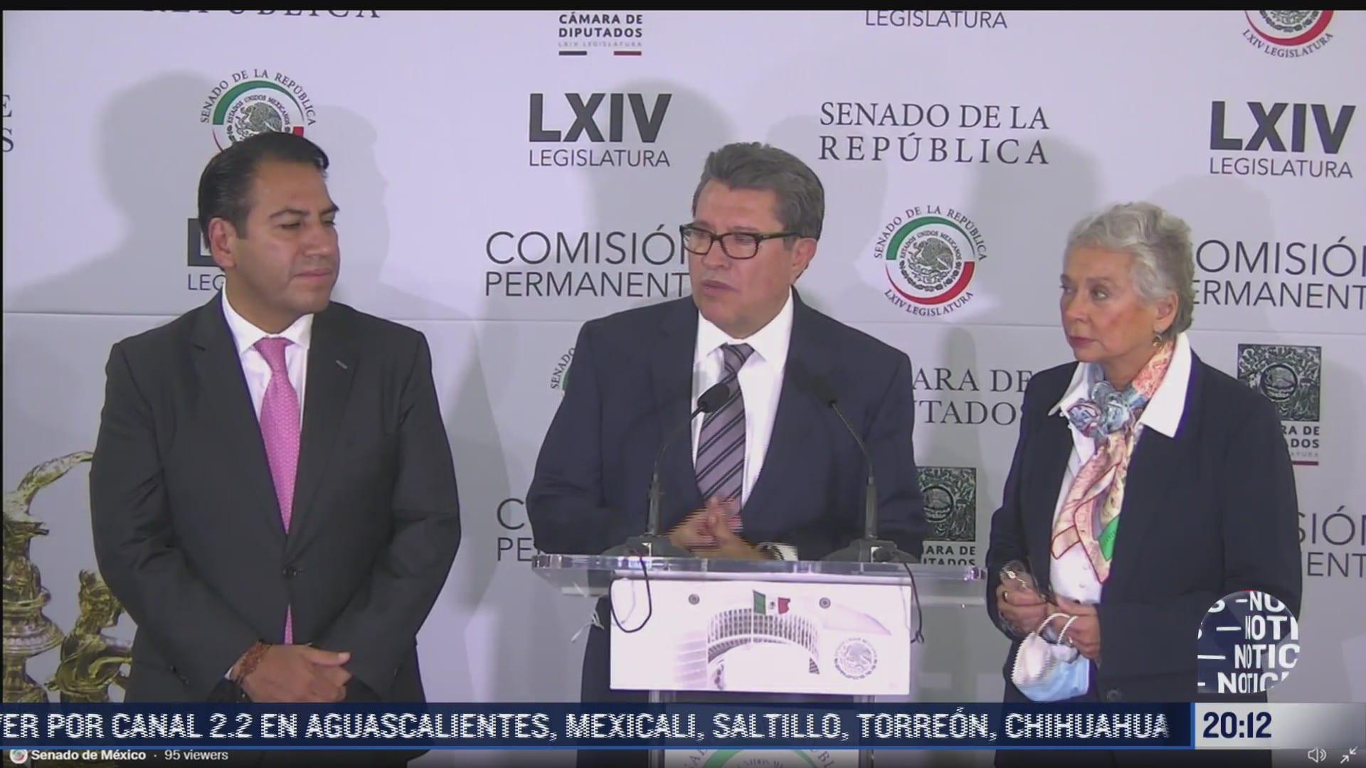 olga sanchez cordero regresa a su escano en senado de mexico