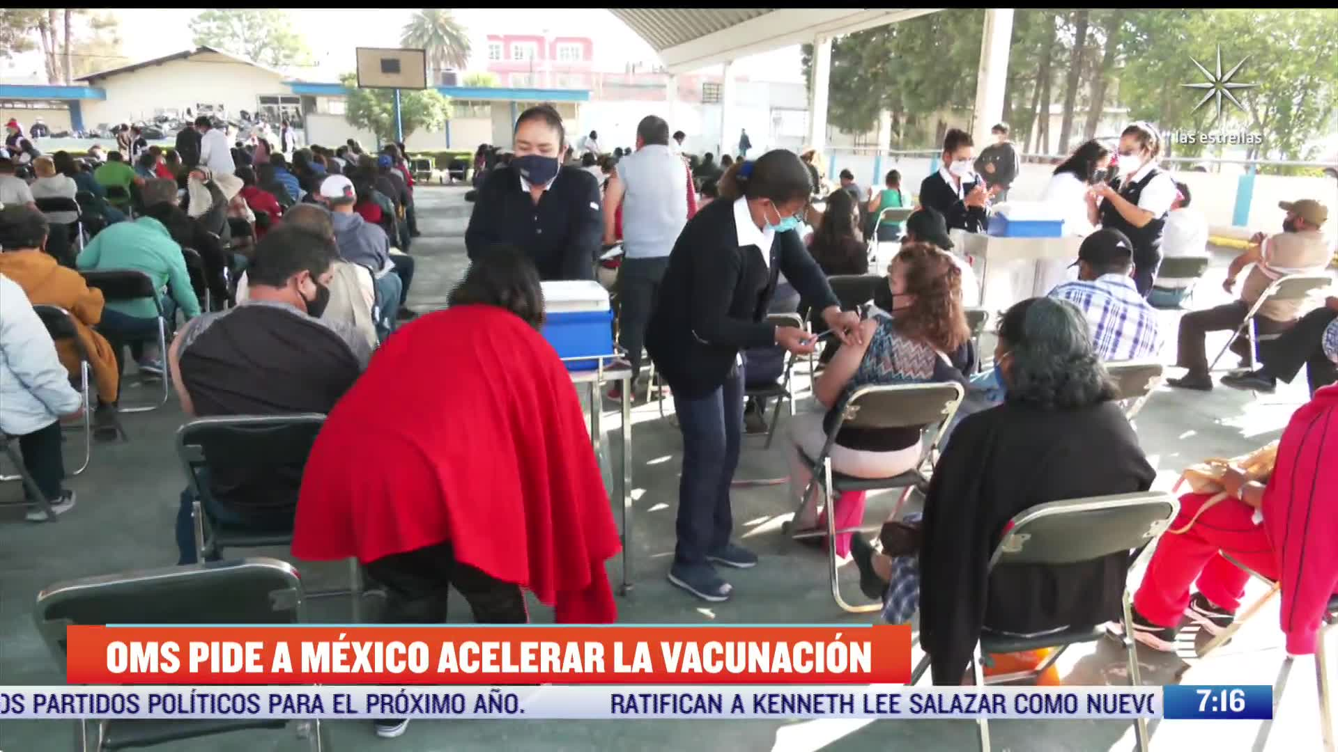 OMS pide a México acelerar vacunación contra COVID-19
