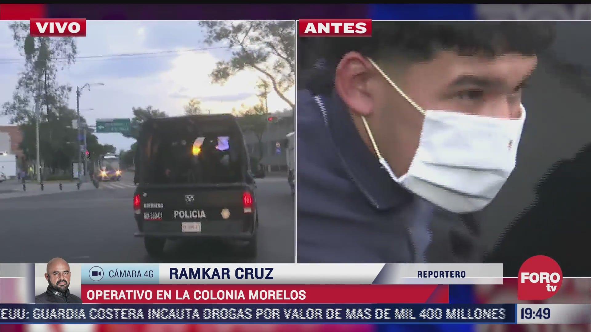 operativo en la colonia morelos cdmx deja un detenido