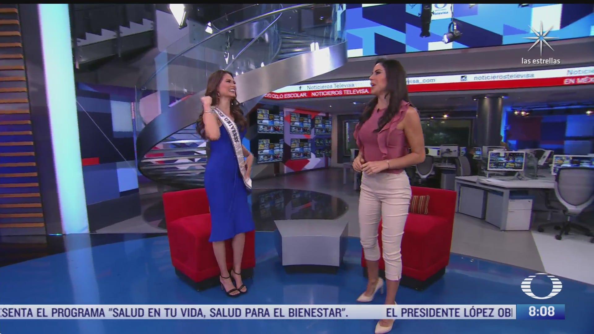 paola rojas entrevista andrea meza la miss universo de mexico