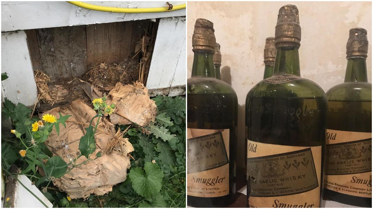 Pareja encuentra botellas de whisky entre paredes de su casa en Nueva York