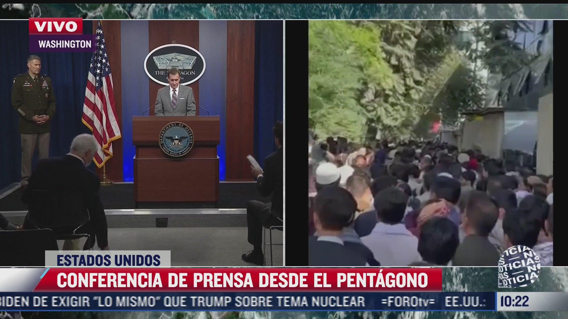 pentagono ofrece mensaje tras bombardeo en afganistan