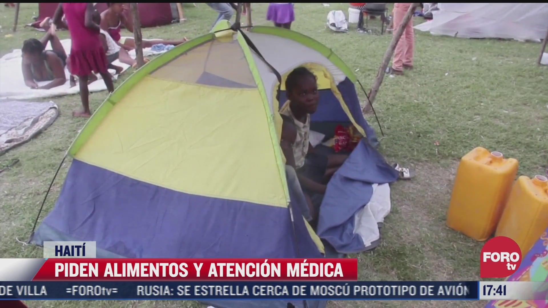 piden alimentos y atencion medica en haiti