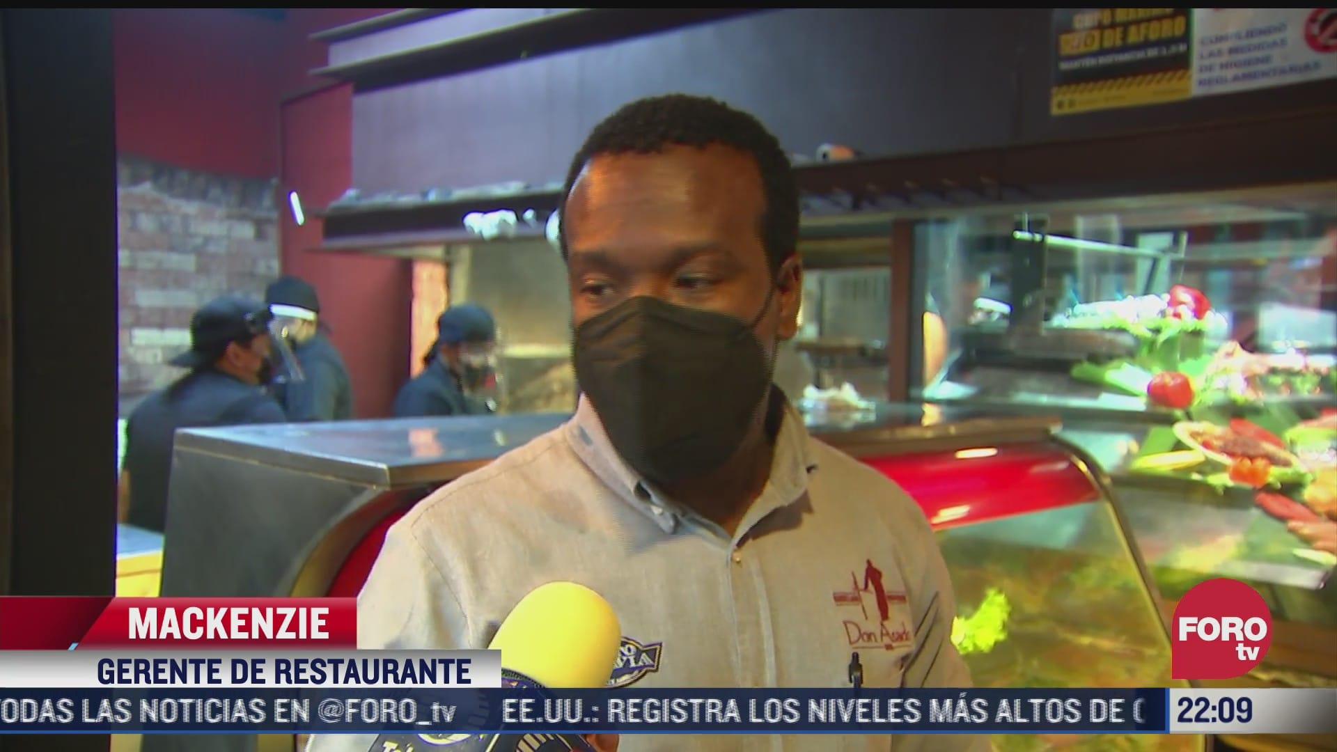 poca afluencia en restaurantes de la ciudad de mexico