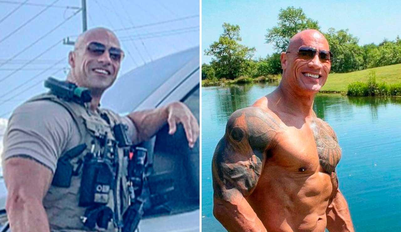Policía es viral en redes sociales tras gran parecido con The Rock