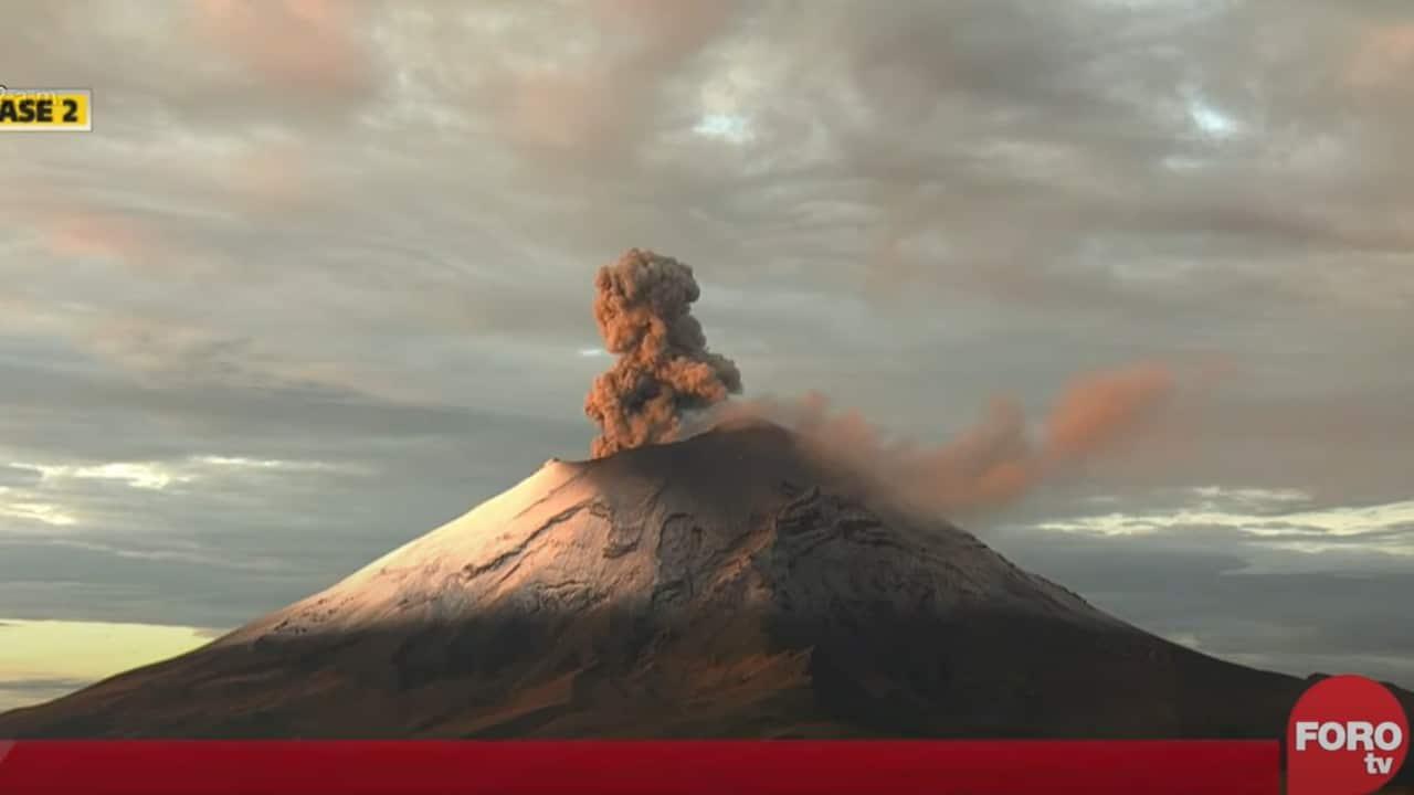 Volcán, Popocatépetl, exhalaciones, captura de pantalla