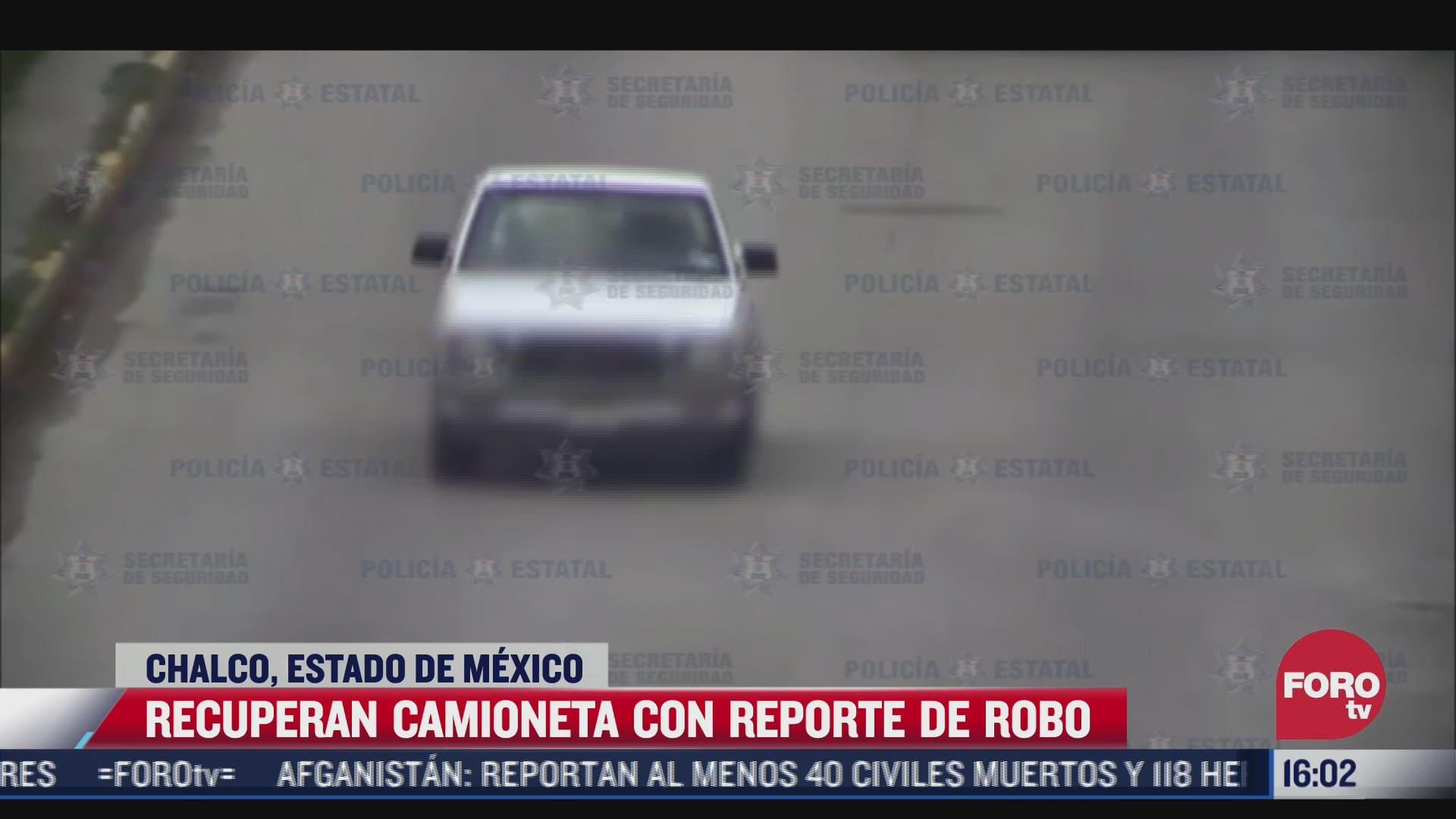 recuperan camioneta robada gracias a arco carretero en chalco