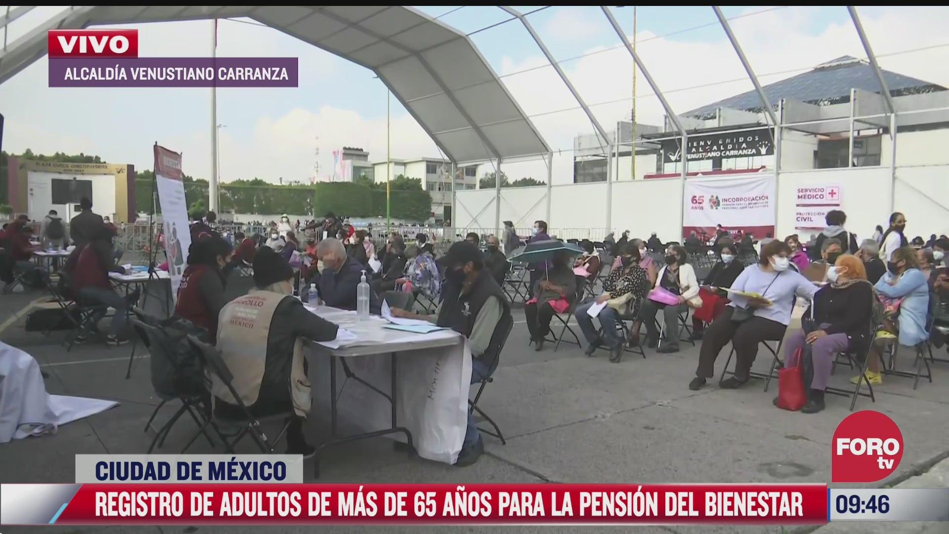 registro de adultos de mas de 65 anos para la pension del bienestar en cdmx