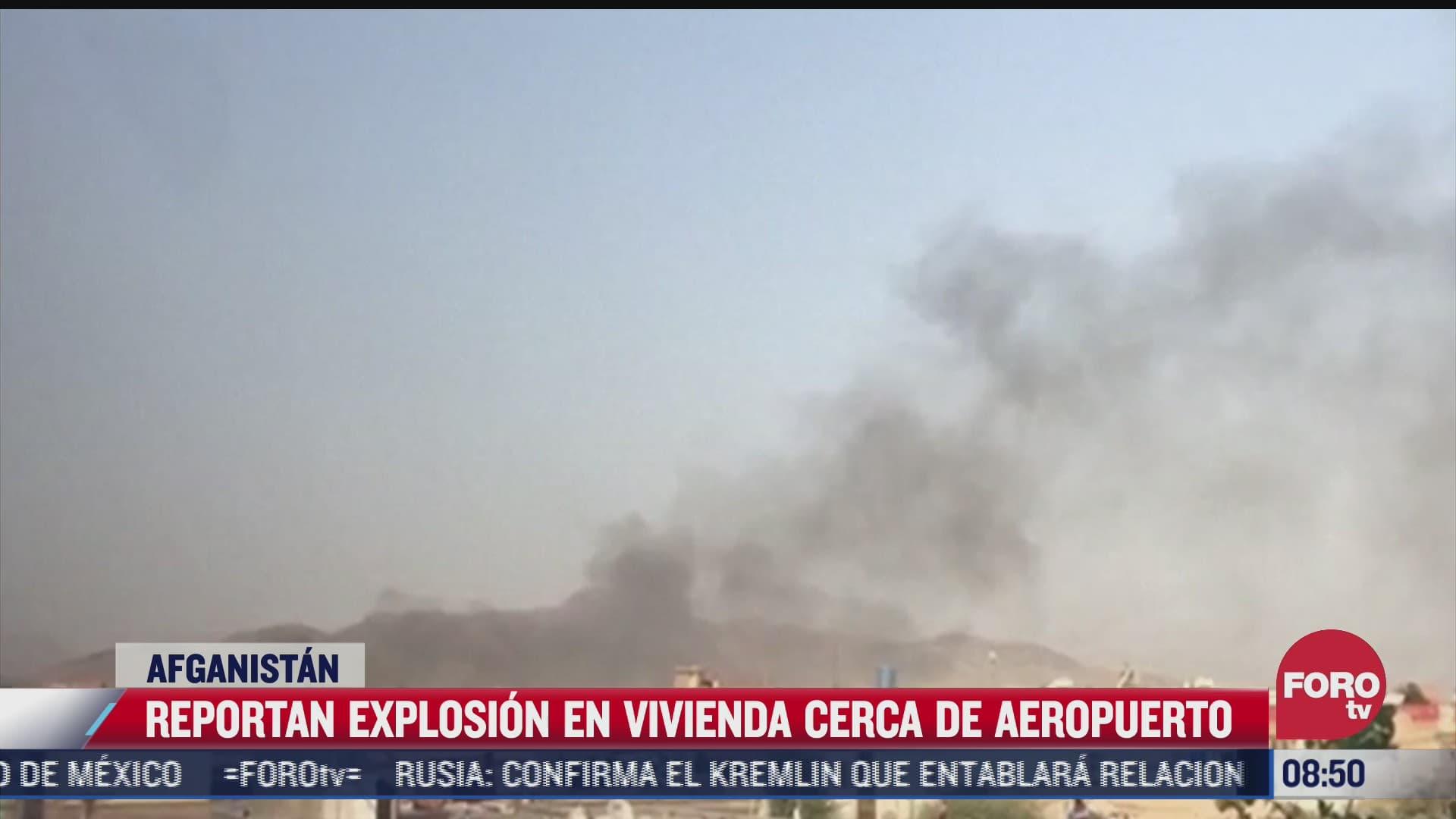 reportan explosion en edificio cercano al aeropuerto de kabul en afganistan