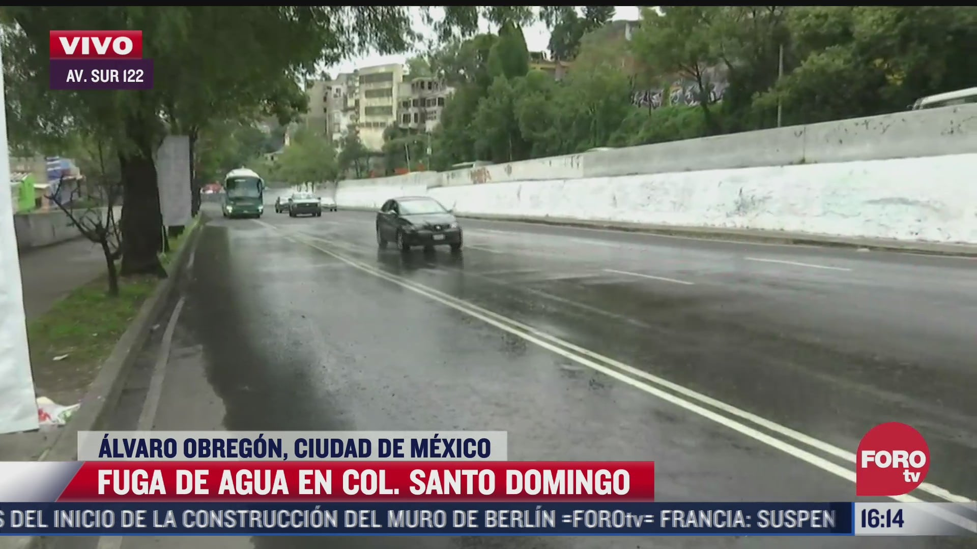reportan fuga de agua en la colonia santo domingo alvaro obregon