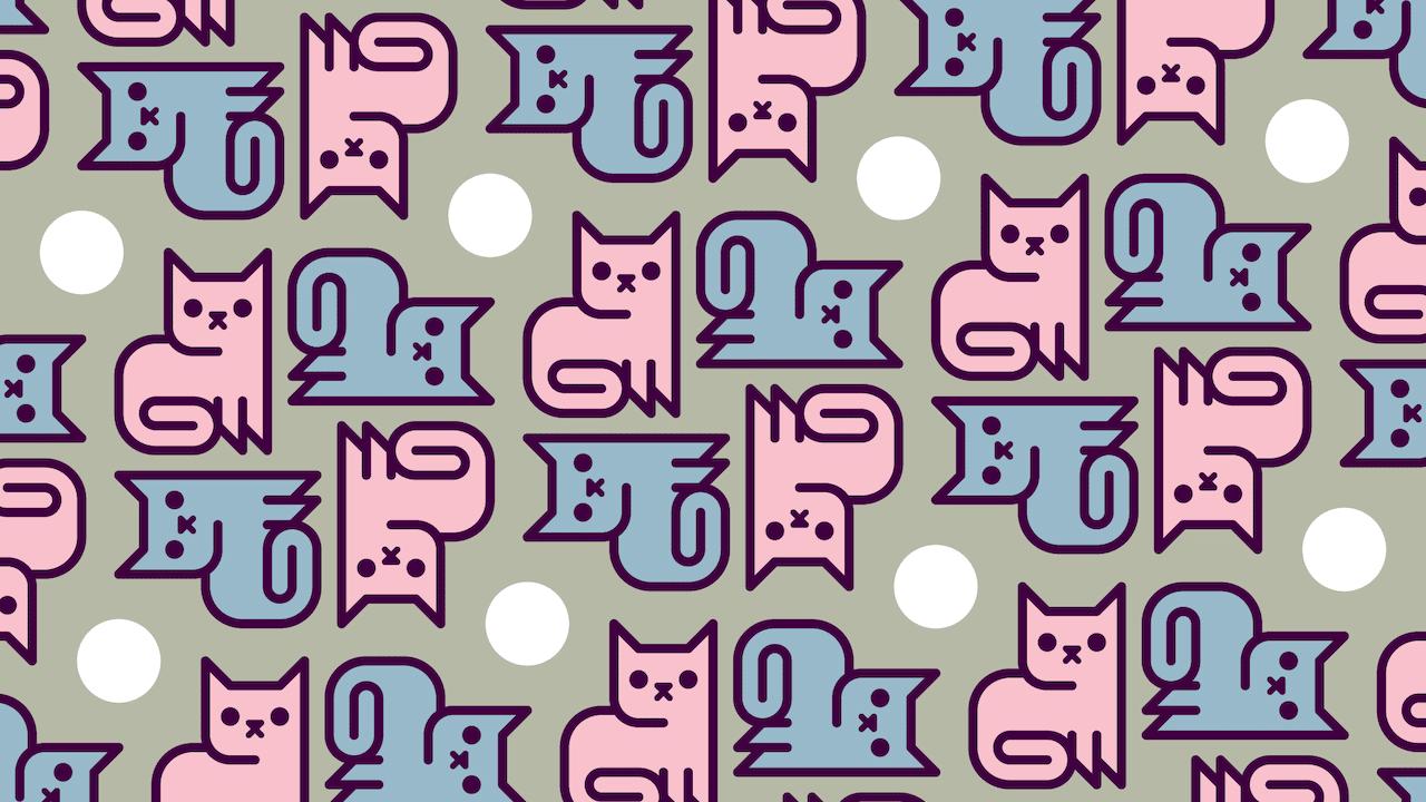 Encuentra los gatos que están de espalda, ilustración