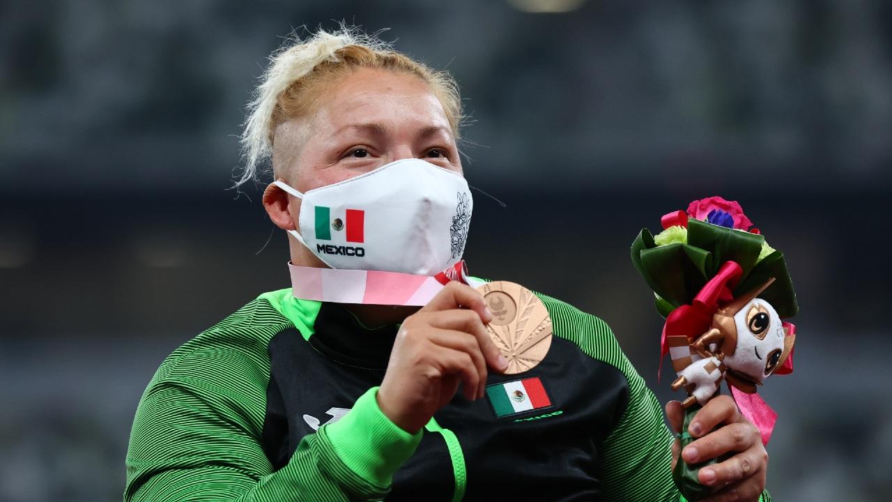 Rosa María Guerrero gana bronce en lanzamiento de disco en Paralímpicos de Tokyo 2020