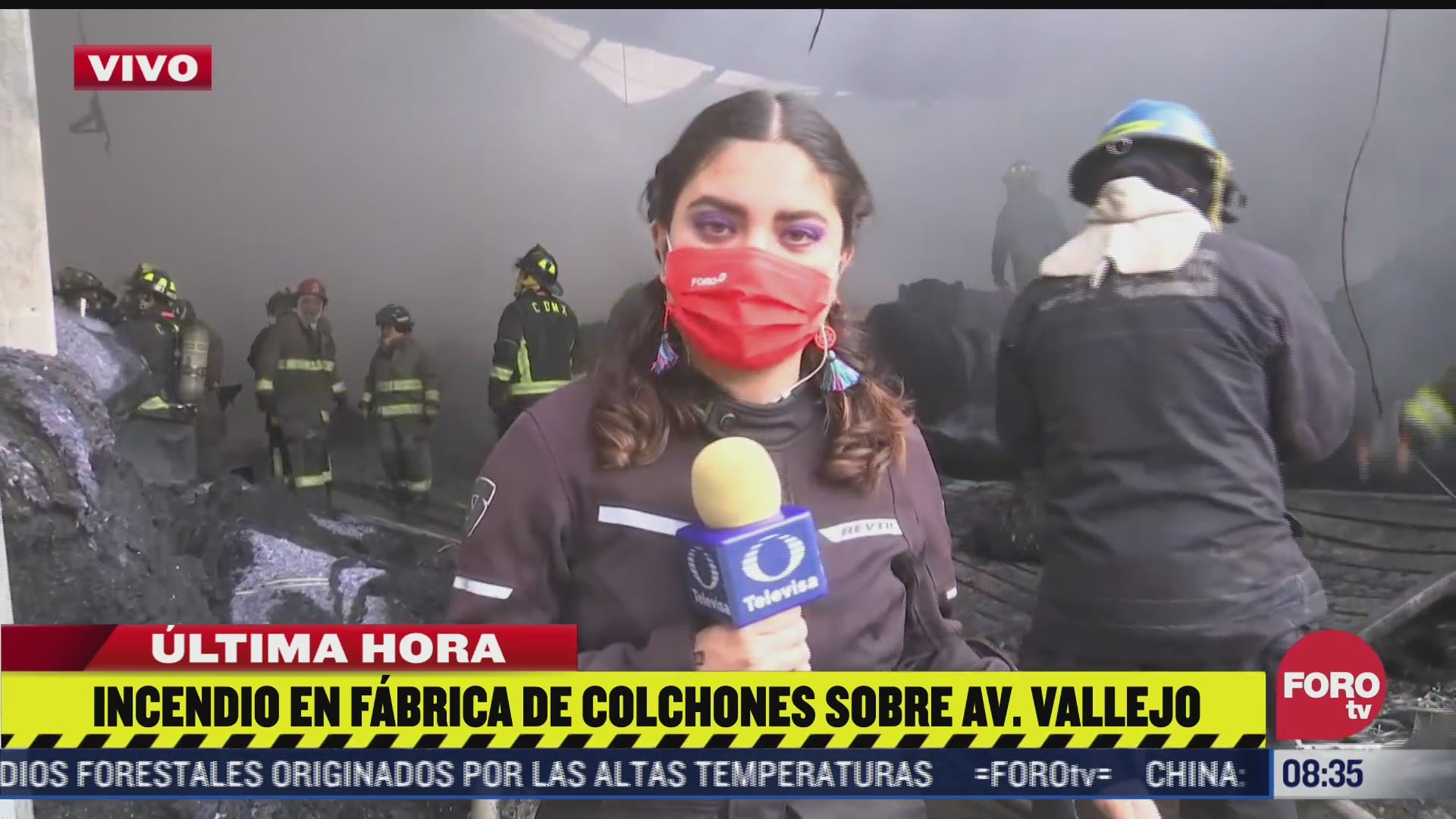 se incendia fabrica de colchones en avenida vallejo