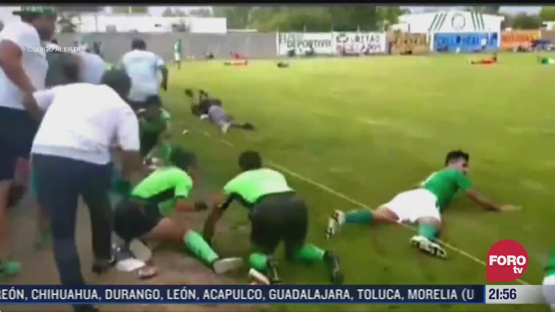 se registra balacera en campo de futbol en leon guanajuato
