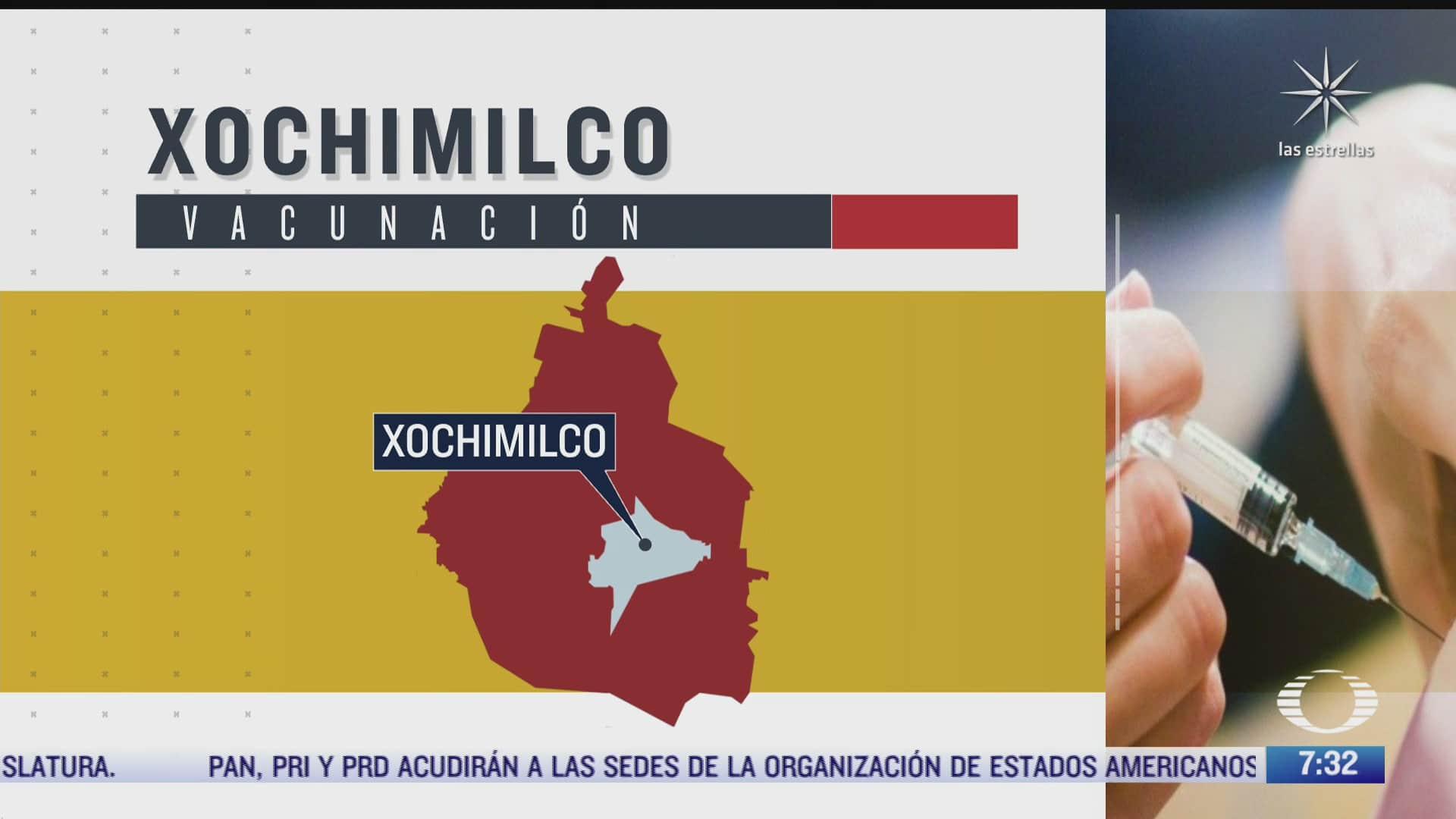 se termina vacuna covid 19 de pfizer en xochimilco y aplican sinovac