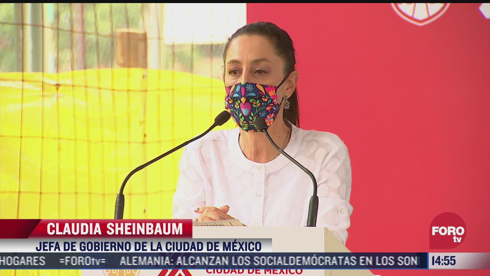 sheinbaum celebra el dia del bombero