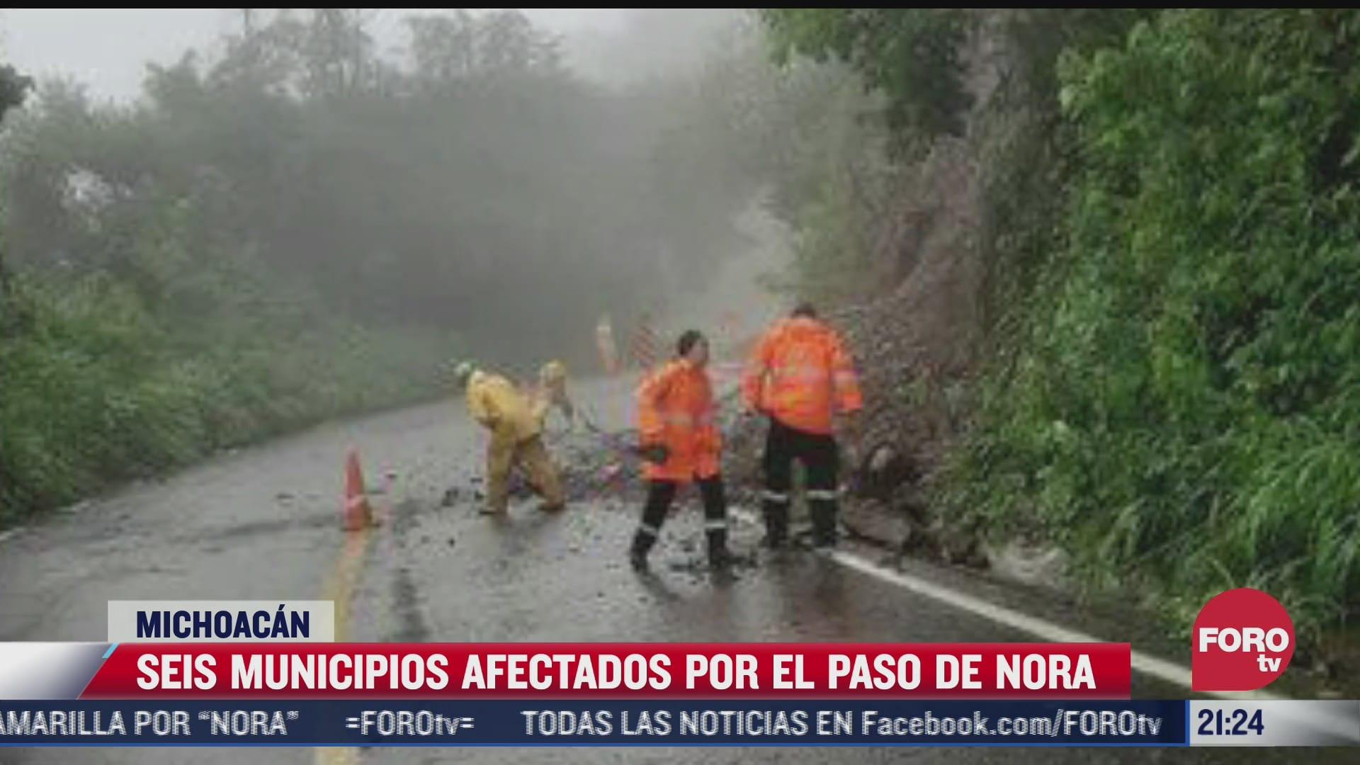 suman 6 municipios con danos por nora en michoacan