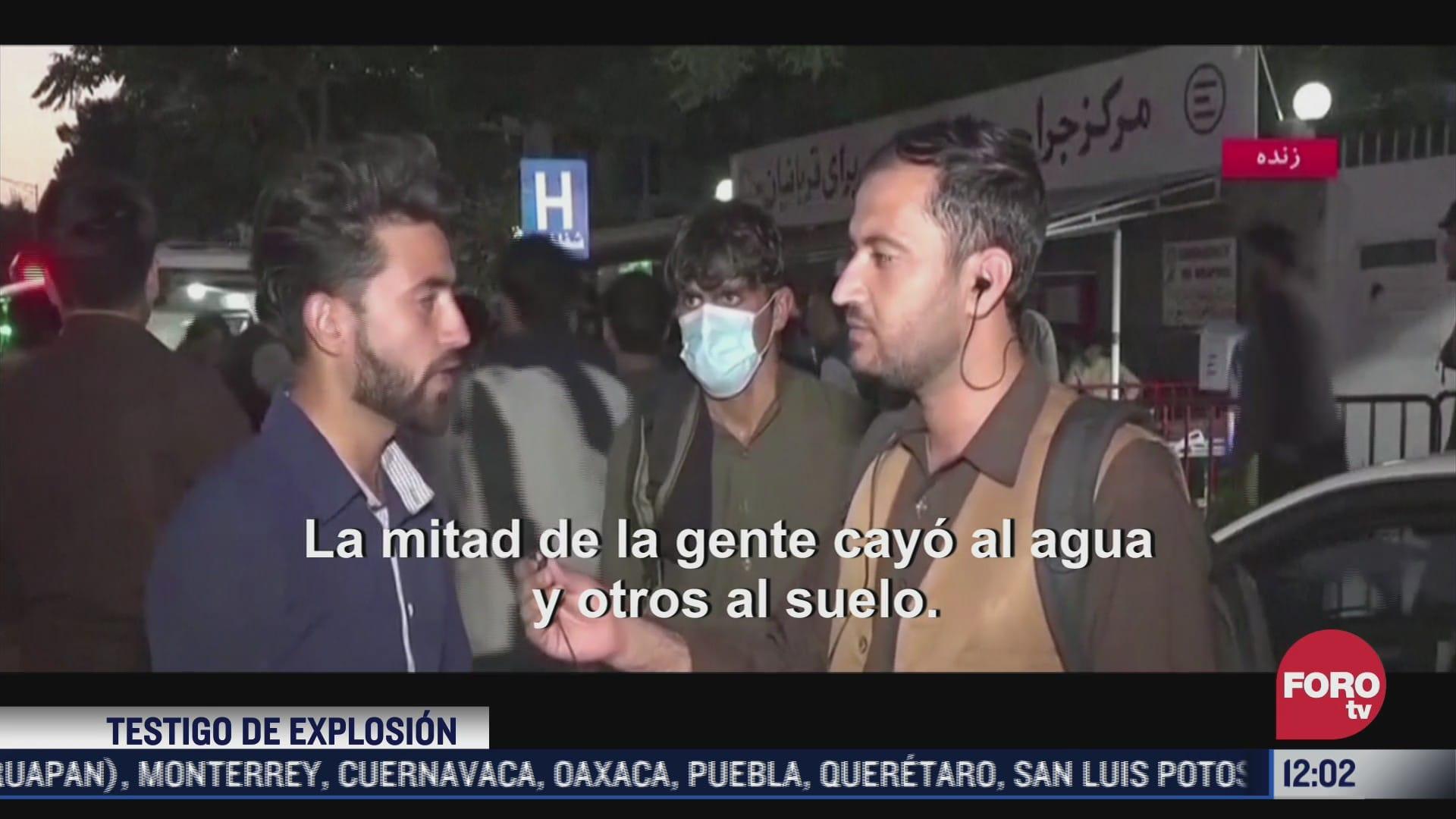 tengo la ropa ensangrentada narra testigo de explosiones en inmediaciones del aeropuerto de kabul