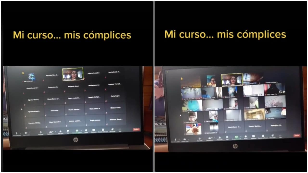 maestra, alumnos, tiktok, videoclase, captura de pantalla