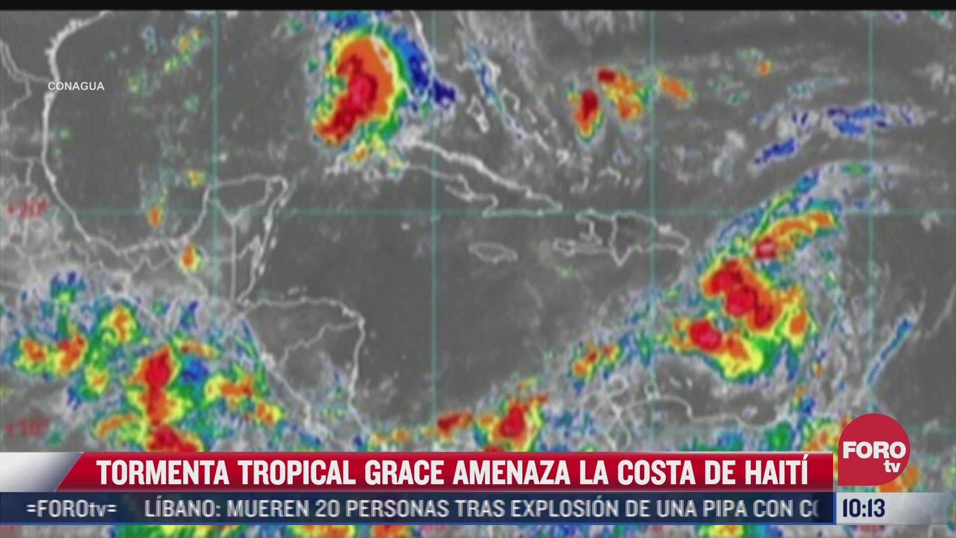 tormenta tropical grace amenaza las costas de haiti