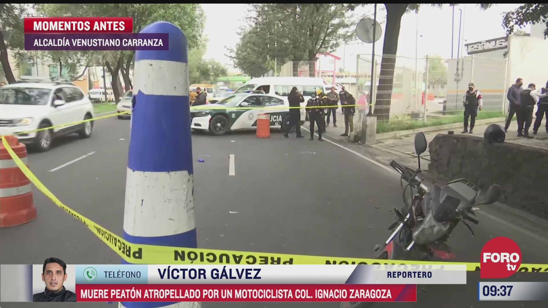 trabajador de gasolinera muere atropellado por motociclista en la cdmx