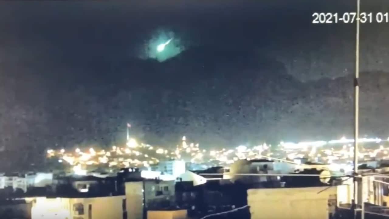 Turquía, bola de fuego, perseidas, lluvia de meteoros