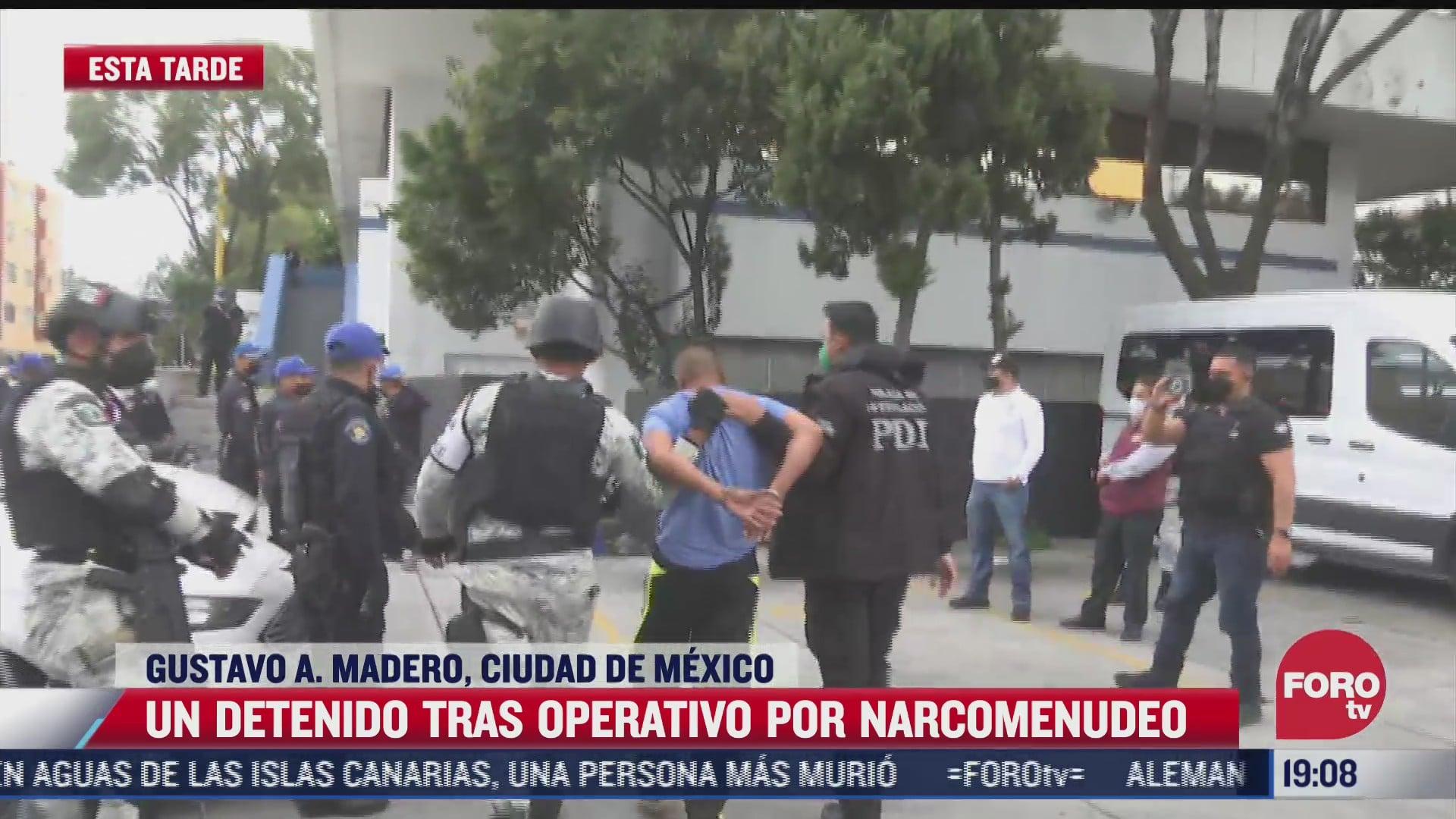 un detenido tras operativo contra narcomenudeo en la gam