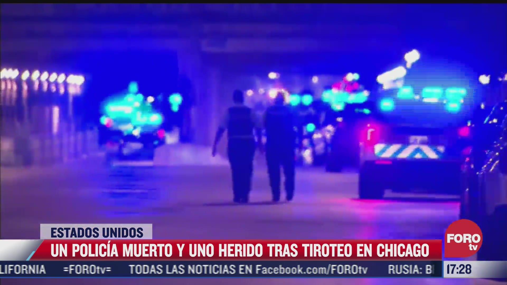 un policia muere y otro herido tras tiroteo en chicago