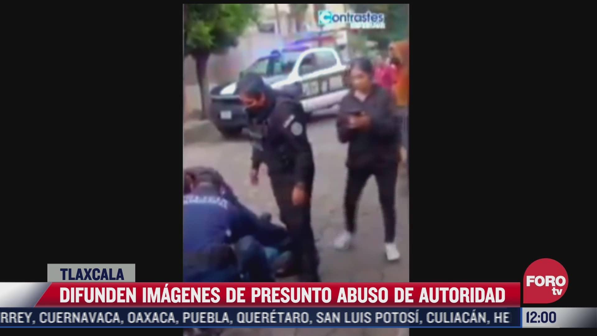 video denuncian abuso de autoridad por parte de policias de tlaxcala