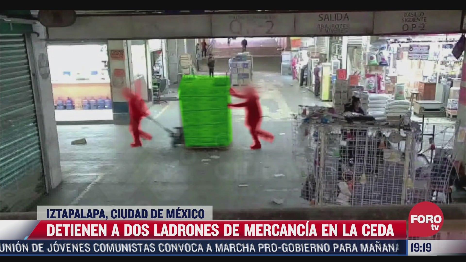 video detienen a dos ladrones de la central de abastos en la cdmx
