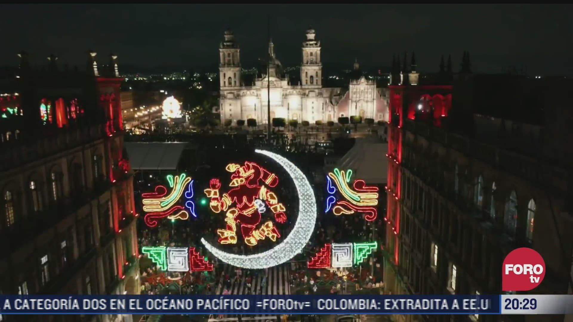 video espectaculo de luz sobre mexico tenochtitlan